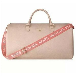 Michael Kors Blush Pink Weekender Travel Bag